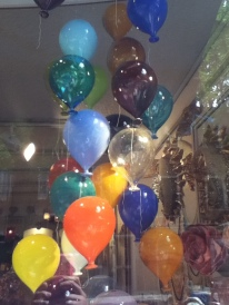 Glass balloons - not the fanciest thing I saw but still super cute
